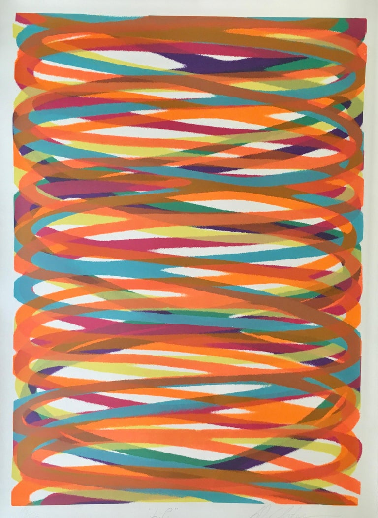 """Dan Christensen (American, 1942-2007) """"L.P."""" (Larry Poons), 1978 Color silkscreen Signed, titled and numbered  53/170 (lower margin), stamped """"1978 Lester Dembitzer: (verso) Sheet 30 x 22 inches. Unframed.  Deaccessioned from the Boca Raton Museum"""