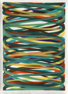 """Dan Christensen """"L. W."""" (Larry B. Wright) Limited Edition, Signed Abstract Print"""
