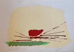 Lyrical Abstract Expressionist Color Field Silkscreen Lithograph Signed