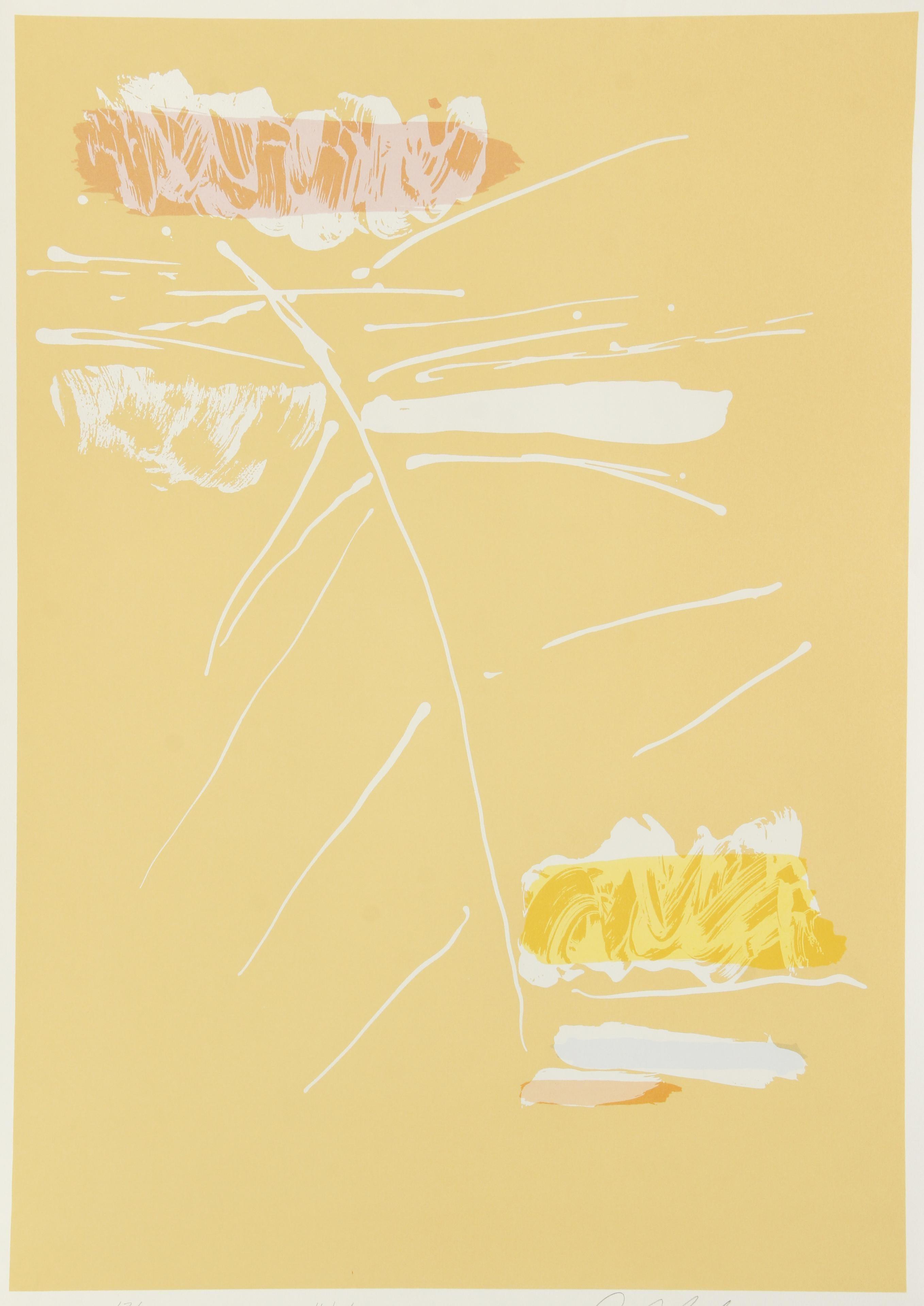 Veeda, Abstract Expressionist Silkscreen by Dan Christensen