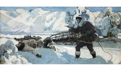 Alaskan Huskie. The Howl of the Malemute Arctic Scene