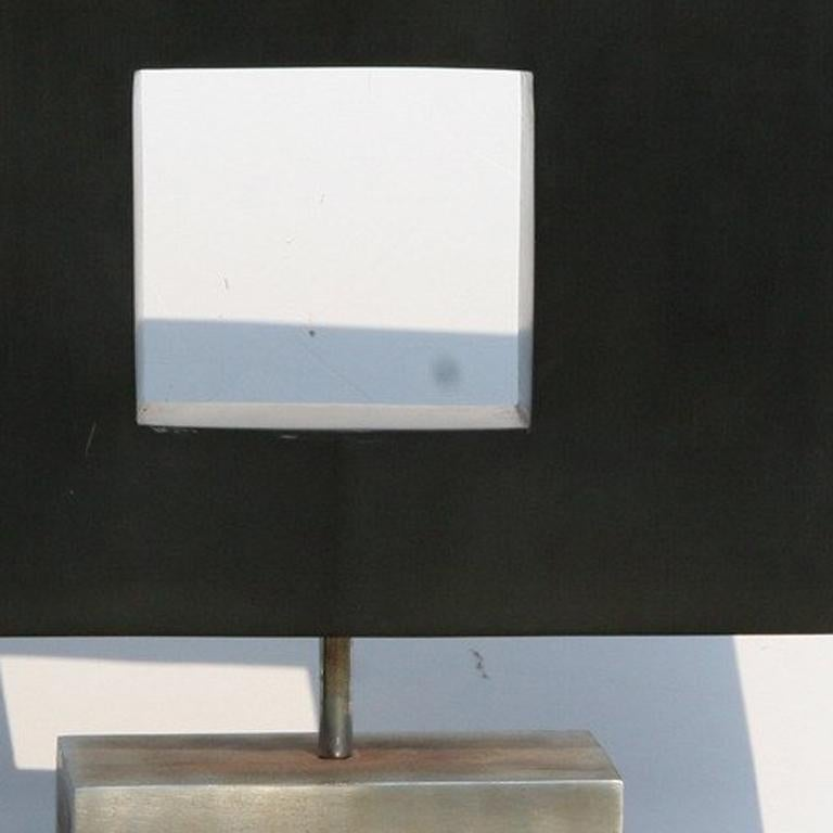 Rotating Abstract Square, Stone Table Top Sculpture For Sale 1