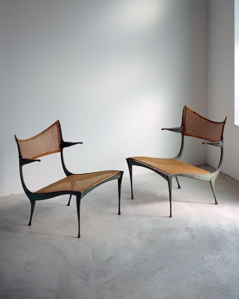 """While working on a commission to design an apartment in Rome, American Designer, Dan Johnsson conjured the idea for the """"Gazelle"""" series. In order to realize these highly intricate designs, Johnsson turned to highly skilled local cabinet makers in"""