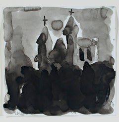 """""""Holy Hill,"""" ink on paper by Dan Muller"""