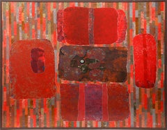 Abstract with Red Forms