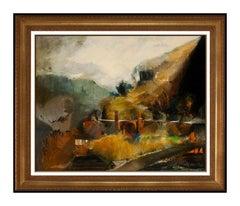 Dan Wingren Original Western Landscape Oil Painting On Canvas Signed Large Art