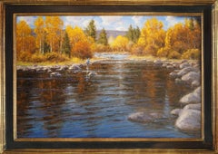 A Fall Day to Remember (fly fishing, river, reflection, Fall colors)