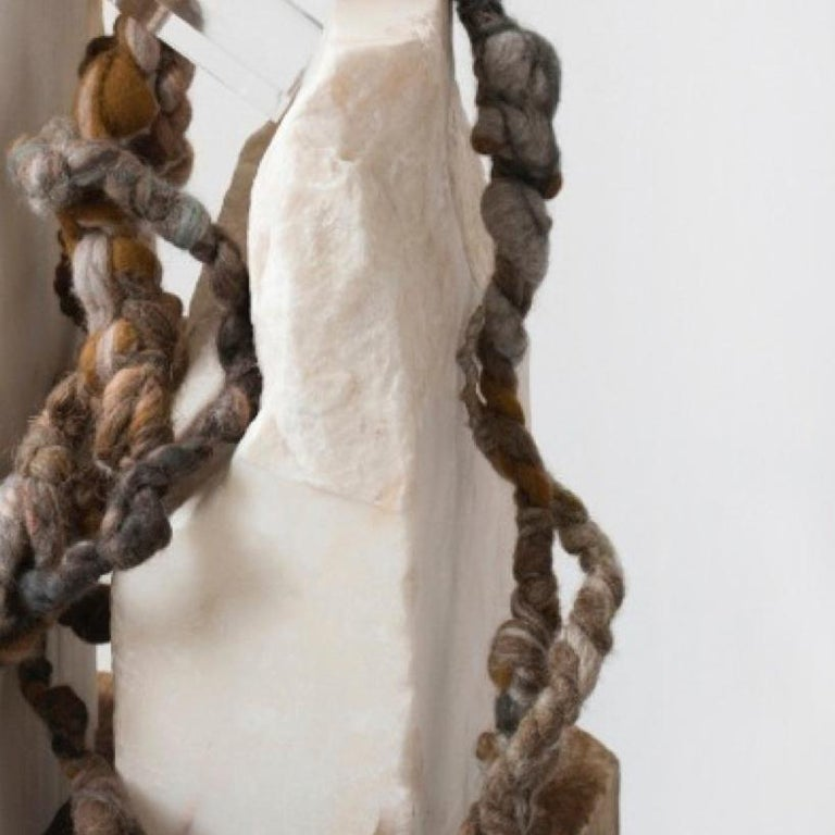 CLING Assemblage - Material Study 01 - Gray Abstract Sculpture by Dana Barnes