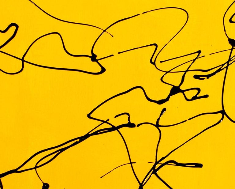 Study after Laocoon 1 El Greco (Abstract painting) - Yellow Abstract Painting by Dana Gordon