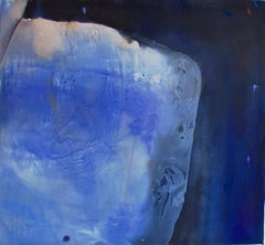 Eulogy, Large Painting in Bright Cobalt Blue