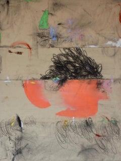 Mop Top Sprinter V, Large Vertical Sewn Canvas in Cream Orange Black Green Red