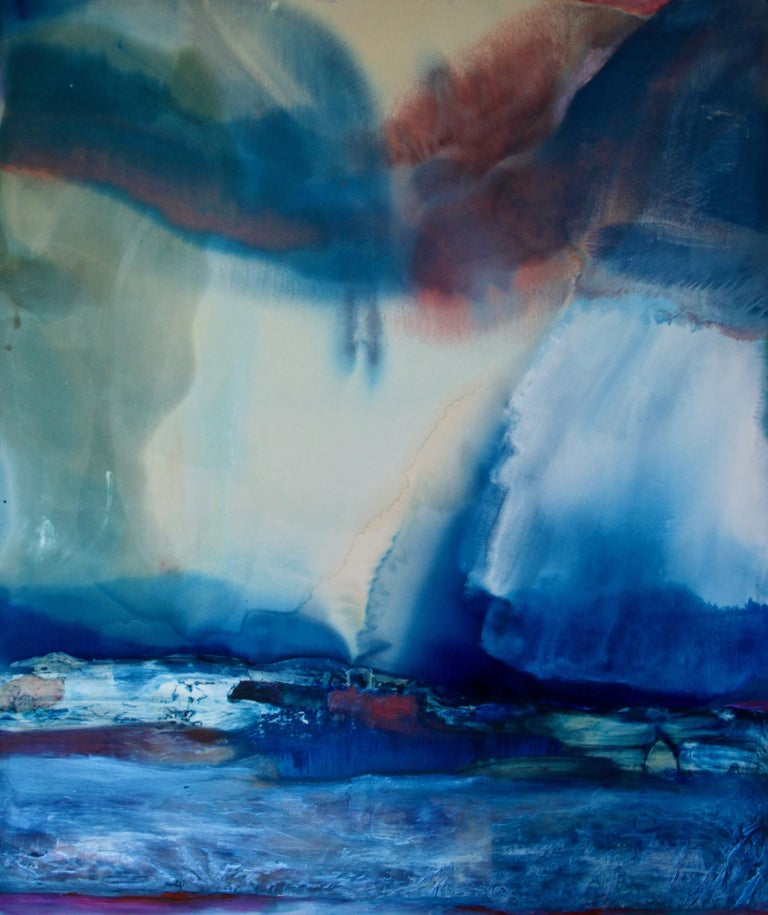 Dana James Abstract Painting - Sunday's Opal