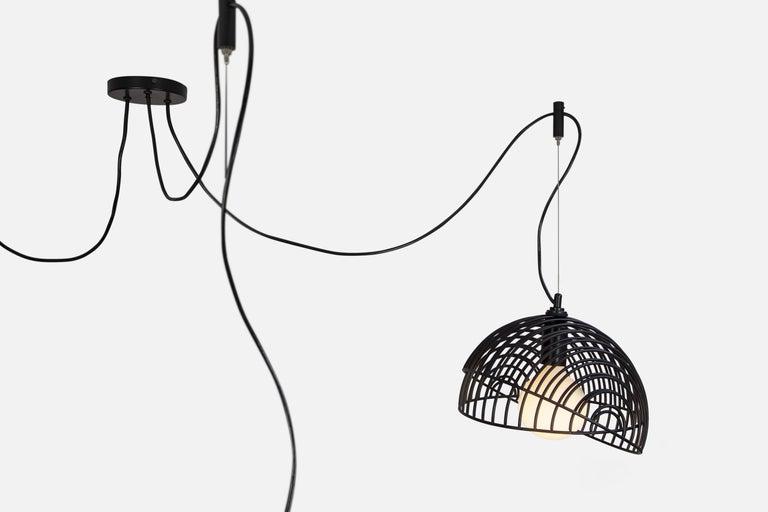 Dana Pendant Light, Black, Cluster of Five, from Souda For Sale 4