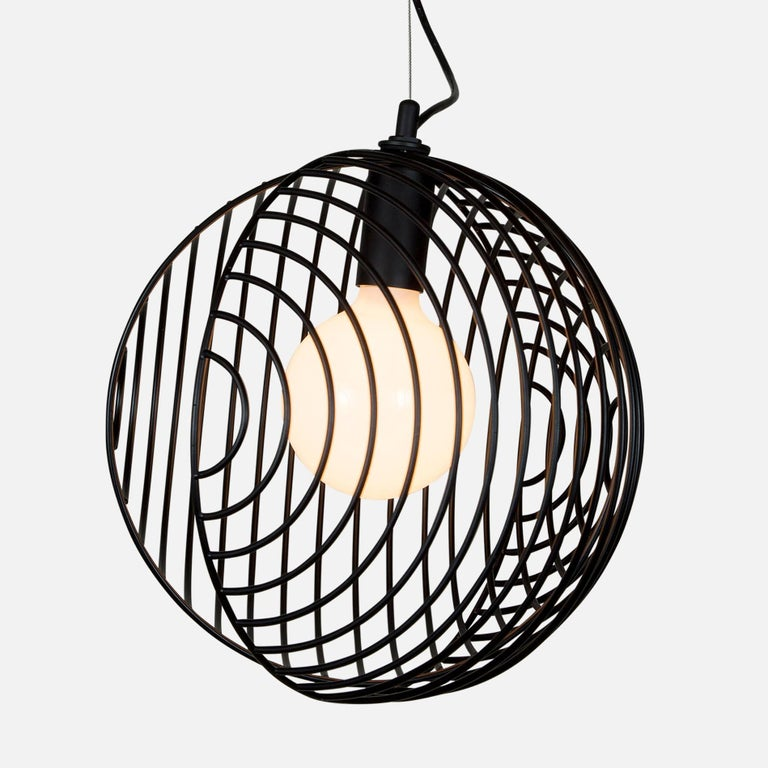 Powder-Coated Dana Pendant Light, Black, Cluster of Five, from Souda For Sale