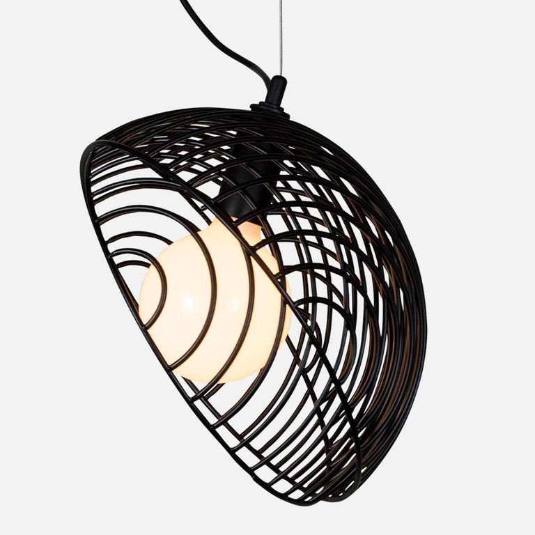 Contemporary Dana Pendant Light, Black, Cluster of Five, from Souda For Sale
