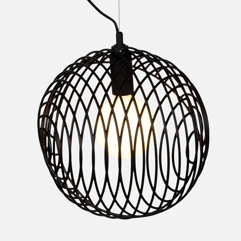 Steel Dana Pendant Light, Black, Cluster of Five, from Souda For Sale