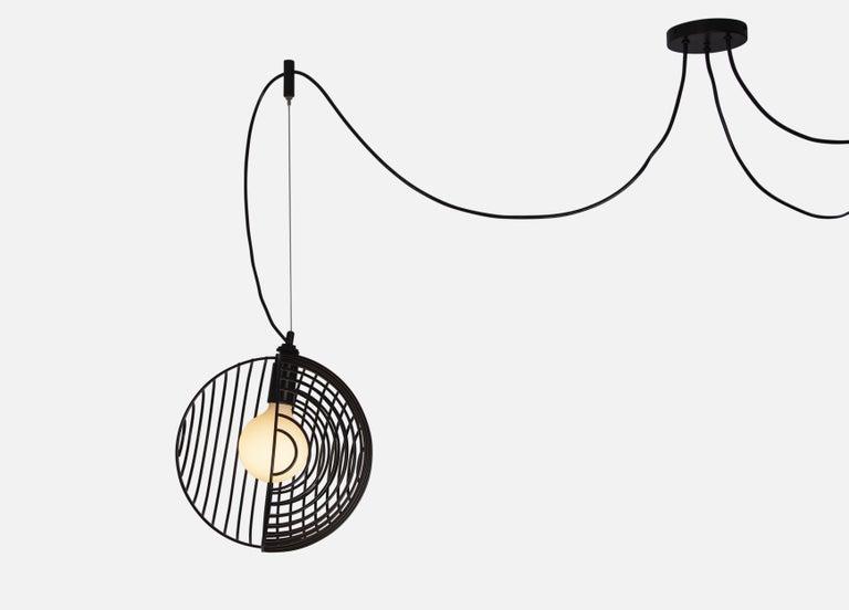 Dana Pendant Light, Black, Cluster of Three, from Souda For Sale 6