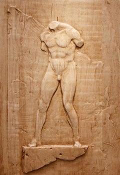 """""""Male Figure"""" Bas-relief Sculpture"""