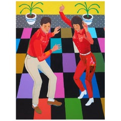 'Dance Away The Heartache' Portrait Painting by Alan Fears Pop Art