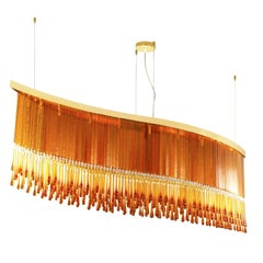 Dancer Suspension Lamp in Murano Glass and Swarovski Elements by Multiforme