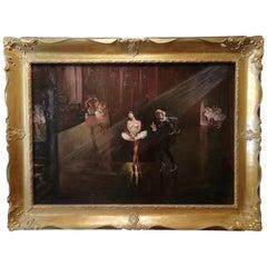 Dancers, Ruiz Oil France Painting 20th Century Degas Dance Impressionism
