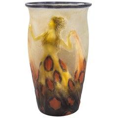 """Dancers Wearing a Long Dress"" Vase by Argy-Rousseau"