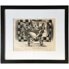 """""""Dancing Clowns"""" Drawing by Lenard Kester"""