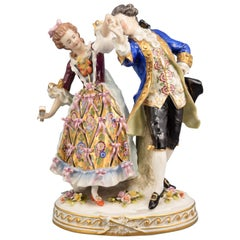 Dancing Couple, Porcelain, Höchst, Germany, 19th Century