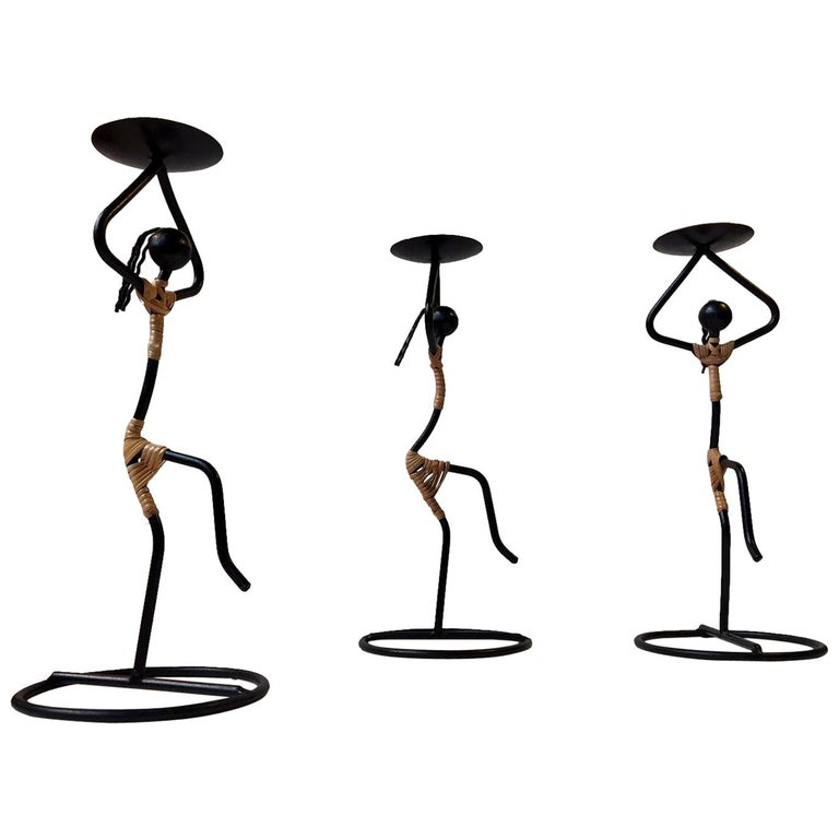 Dancing Danish Modernist String Candleholders by Laurids Lonborg For Sale