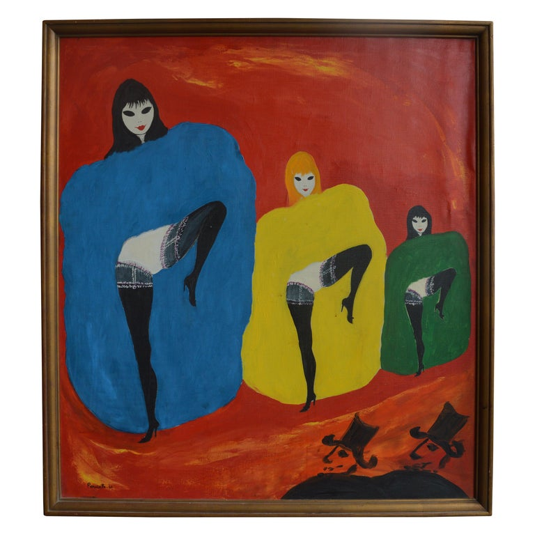 Dancing Girls by Nicola Ortis Poucette For Sale
