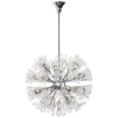 """Dandelion"" by Stejnar for Nikoll Metal and Plexi Sputnik Chandelier, 1950s"