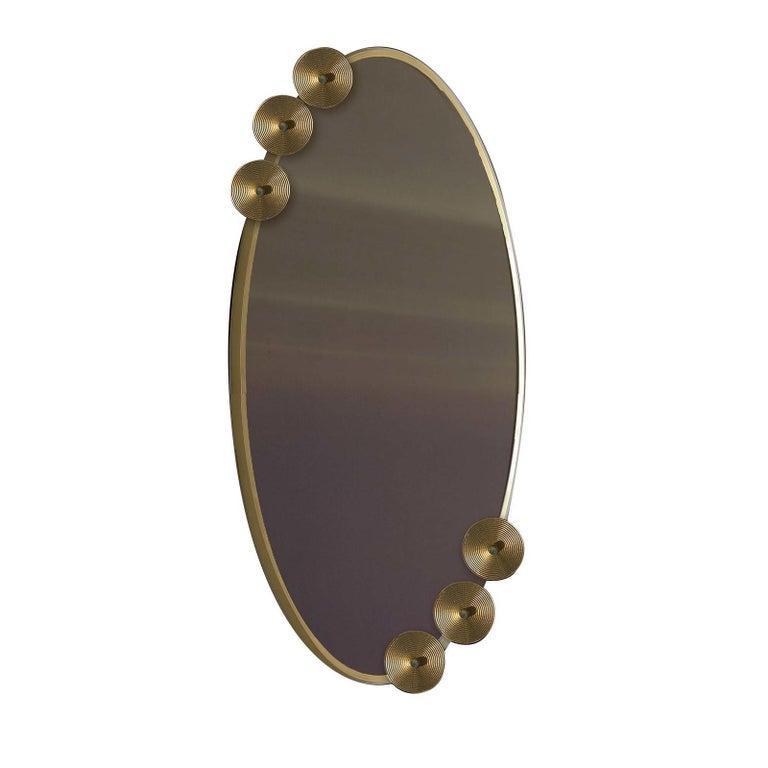 Modern Dandelion Oval Mirror For Sale