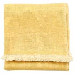 Dandelion Yellow Shade Queen Size Bedspread / Coverlet Handwoven in Soft Merino