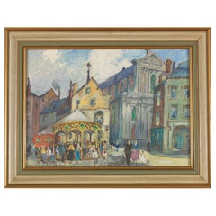 Dandois, Place Lilon Namur, Oil on Canvas, Framed, Signed and Dated 1906