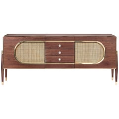 Dandy Sideboard in Wood with Brass Detail by Essential Home