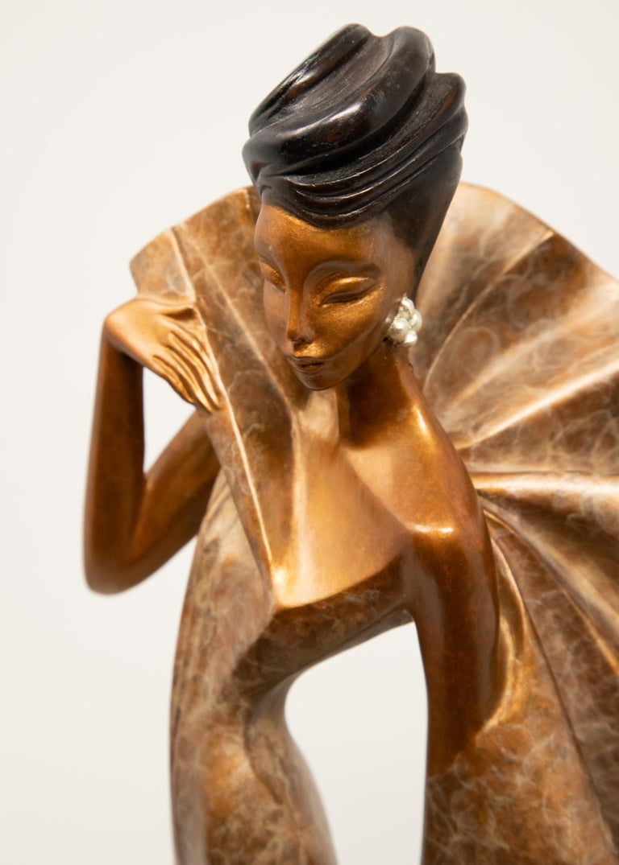 Art Deco Daner Bronze Sculpture, Icarus, 1991 For Sale