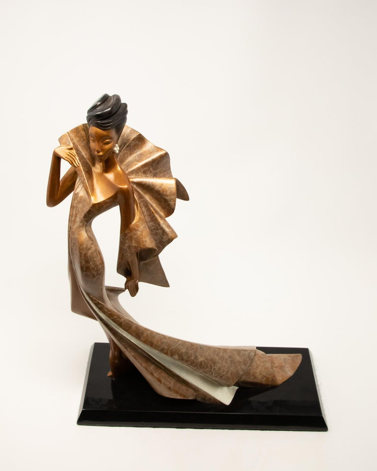 American Daner Bronze Sculpture, Icarus, 1991 For Sale