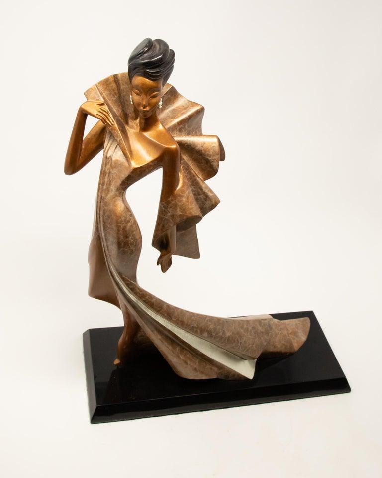 Cast Daner Bronze Sculpture, Icarus, 1991 For Sale