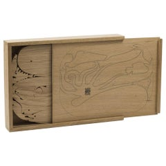 Danese Milano 16 Pesci Toys in Solid Oak Wood by Enzo Mari