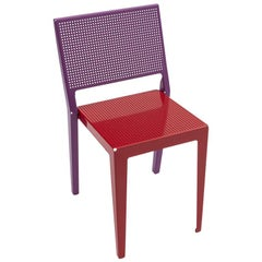 Danese Milano Abchair Chair Violet with Red Seat by Paolo Rizzatto