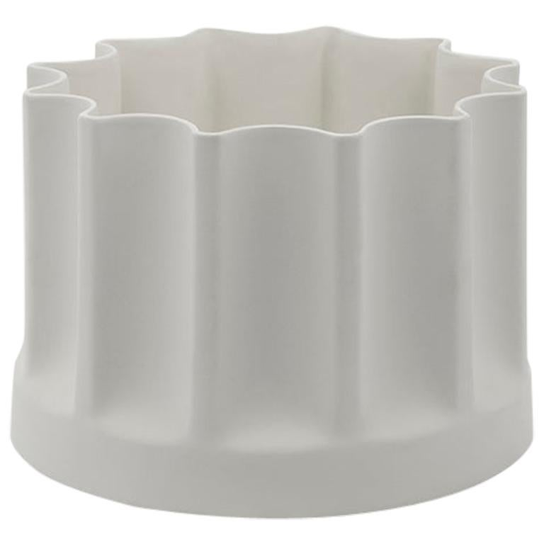 Danese Milano Bambù Extra Small Vase in White Ceramic by Enzo Mari