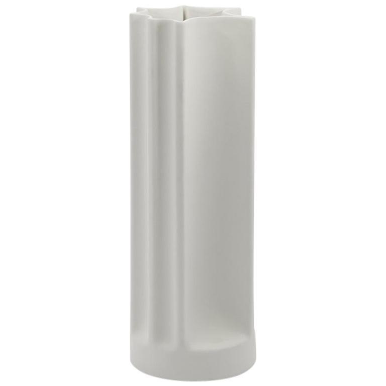 Danese Milano Bambù Medium Vase in White Ceramic by Enzo Mari