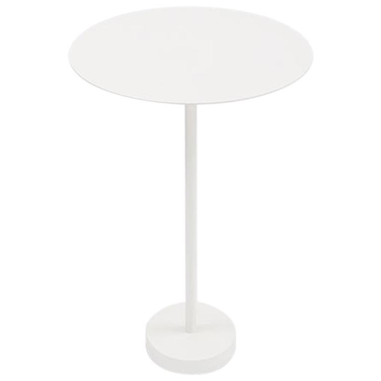 Danese Milano Bincan Medium Table  in White Metal by Naoto Fukasawa