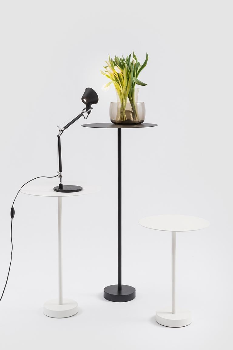 Modern Danese Milano Bincan Small Table in White Metal by Naoto Fukasawa For Sale