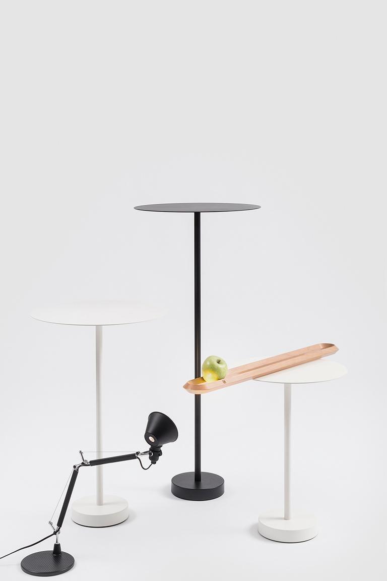Italian Danese Milano Bincan Small Table in White Metal by Naoto Fukasawa For Sale