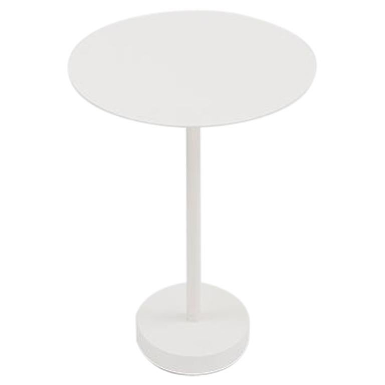 Danese Milano Bincan Small Table in White Metal by Naoto Fukasawa For Sale