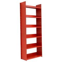 Danese Milano Gran Livorno Red Wall Bookcase in Metal by Marco Ferreri