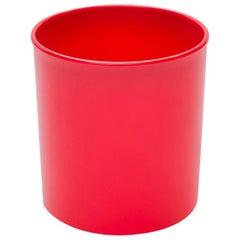 Danese Milano Koro Wastepaper Basket in Red by Enzo Mari