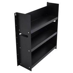 Danese Milano Livorno 60 Black Bookcase in Metal by Marco Ferreri