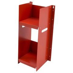 Danese Milano Livorno Red Bookcase in Metal by Marco Ferreri